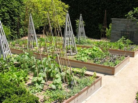 kitchen garden design ideas raised vegetable garden bed employed a strategic