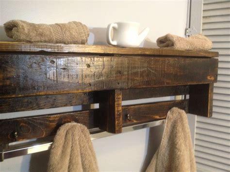 Handcrafted Wall - custom handmade reclaimed pallet wood shelf entry