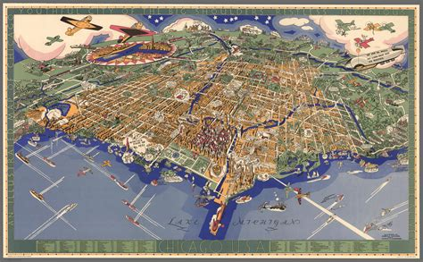 bird eye view map found a great 1931 birds eye view map of chicago chicago