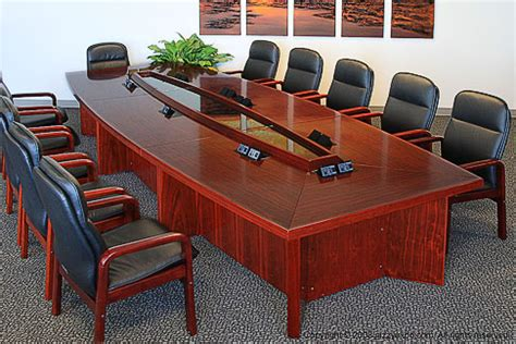 conference table with data ports chicago conference table