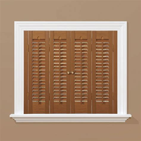 home depot interior shutters shutters made of premium white pine