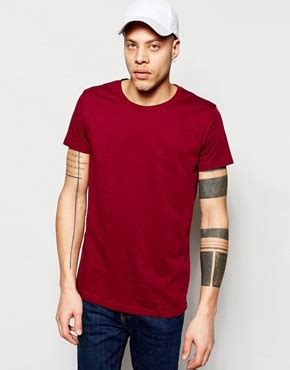 Weekday Alan T Shirt Green scoop neck t shirts shop s scoop neck t shirts asos