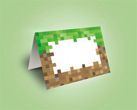 minecraft cards printable unavailable listing on etsy