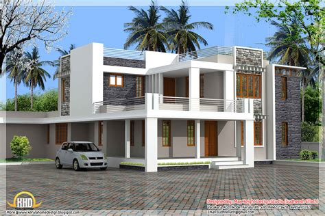 modern flat roof house plans