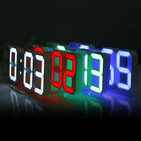 digital wall 3d led digital wall clocks 24 12 hours display 3