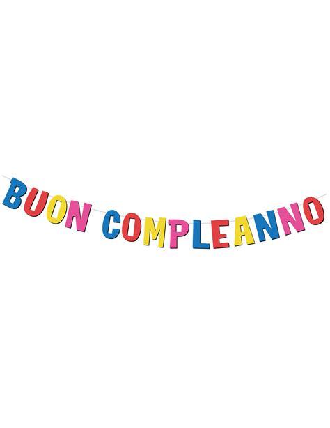 con lettere ghirlanda con lettere in cartone buon compleanno su