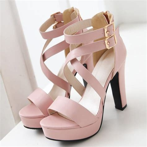 Pretty Heels For Summer by Shoes Wholesale Pink Pastel Sandals Heels