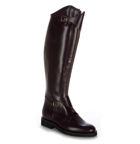 burgundy leather boots burgundy leather polo boots with buckles luxurious