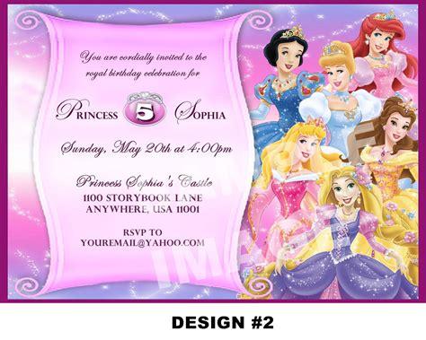 printable birthday cards disney princess disney princess party invitations princess party