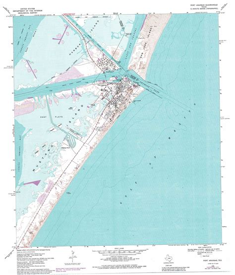 map port aransas texas port aransas topographic map tx usgs topo 27097g1