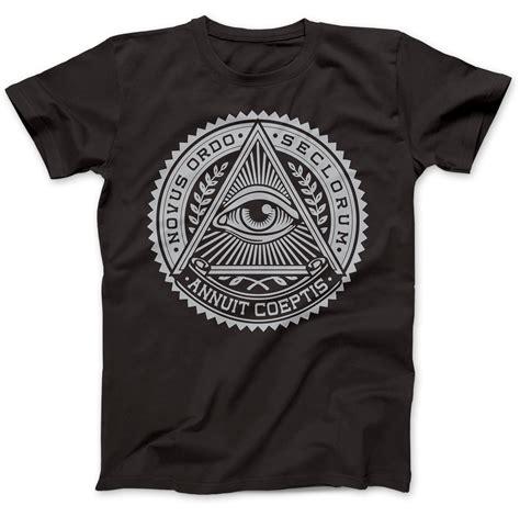 illuminati tshirt illuminati eye symbol t shirt 100 premium cotton annuit