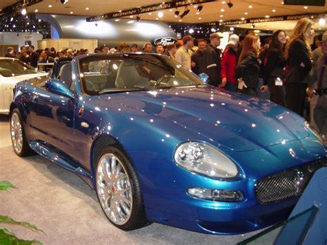coupe cambrio maserati blue new york auto show 2005