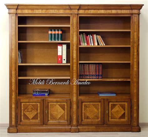 librerie noce librerie in noce intarsiato librerie
