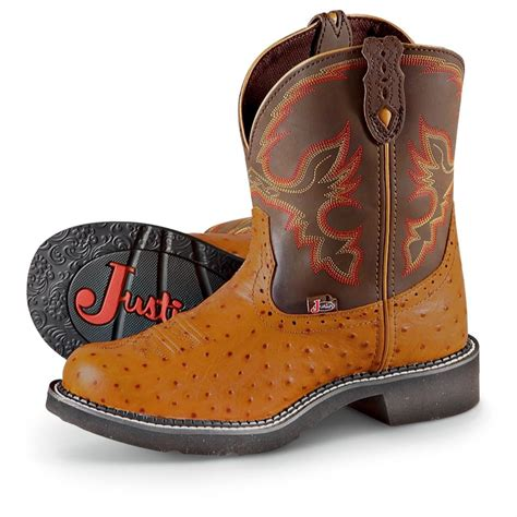 womens justin boots clearance s justin 174 boots cognac 202754 cowboy