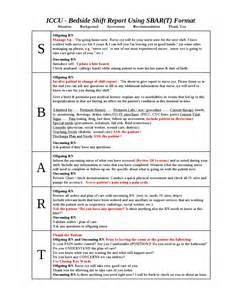 Sbar Template Word by Ccu Bedside Shift Report Template By Ian Saludares Issuu