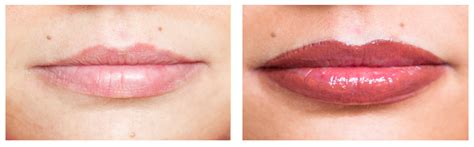 tattoo lips before and after semi permanent make up skinviva manchester
