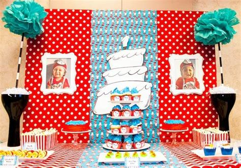 Kara's Party Ideas Thing 1 and Thing 2 Twin Birthday Party {Ideas, Supplies, Decor}