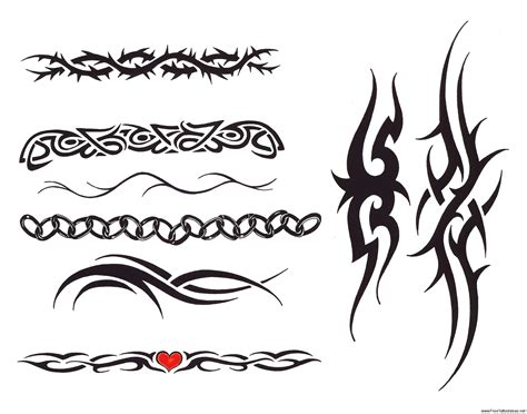 simple tribal arm tattoos armband tattoos