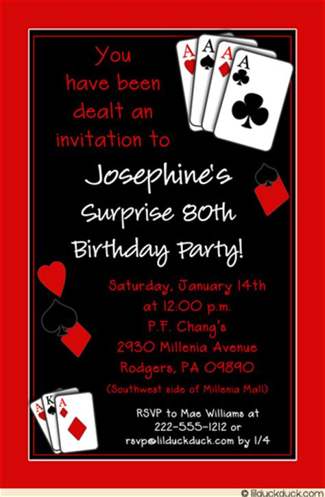 casino birthday card template casual casino invitation birthday
