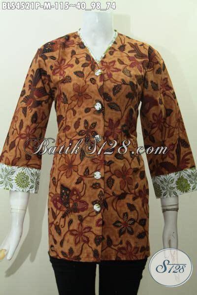 Baju Wanita Karir Berjilbab busana batik elegan untuk wanita karir baju batik jawa halus motif terkini proses printing