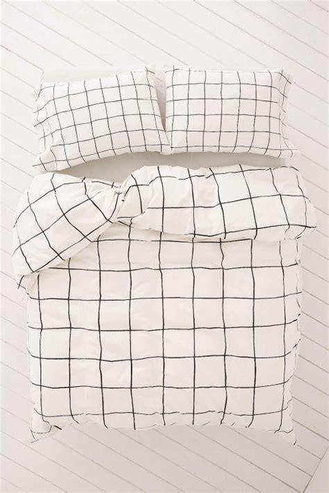 Grid Pattern Quilt Cover   swissmiss wonky grid duvet cover