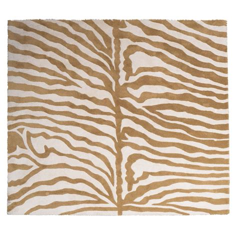 Indian Print Rugs by Beautiful Indian Modernist Zebra Print Rug In Wool At 1stdibs