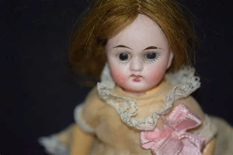 how to restring a bisque doll antique doll miniature bisque dollhouse cutie