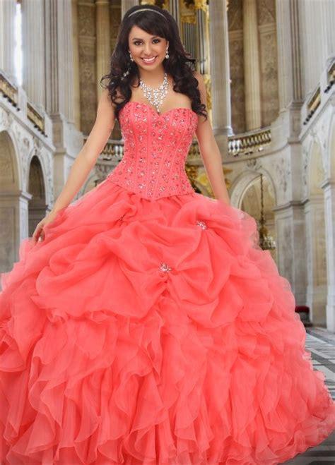 imagenes cumpleaños xv años vestidos de quinceanera color salmon vestidos de 15 aos