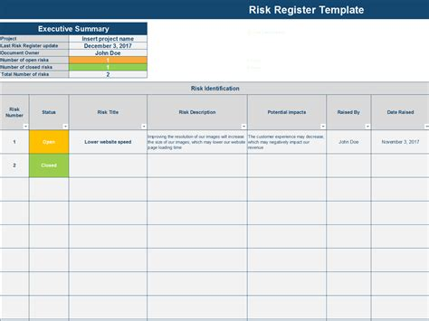 Download A Risk Register Excel Template By Ex Deloitte Consultants Project Management Register Template