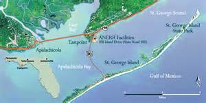 st george island florida map apalachicola national estuarine research reserve