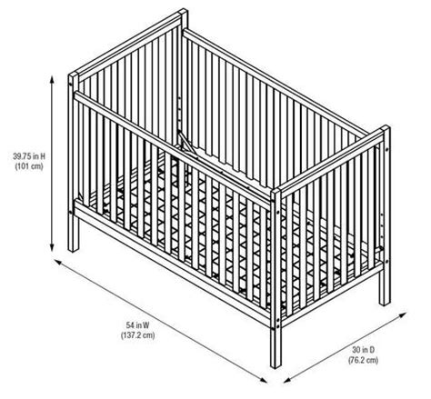 Crib Width by Baby Crib Dimensions Www Pixshark Images Galleries