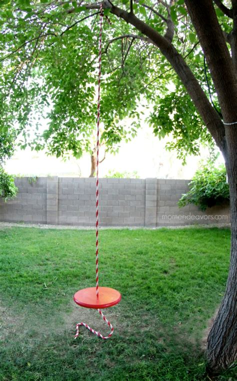 tree swing simple diy tree swing