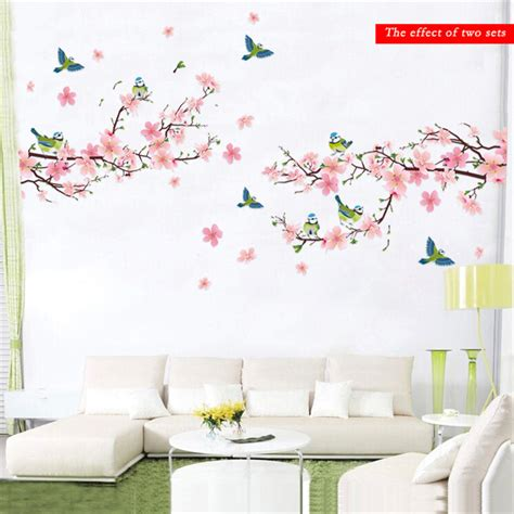 removable wall decals for living room sakura wall stickers decal bedroom living room diy flower removable pvc art wallpaper beautiful