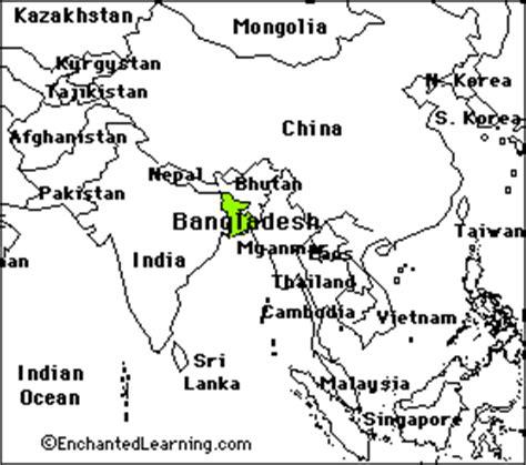 coloring page of bangladesh map bangladesh enchantedlearning com