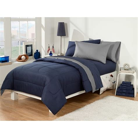 extra long twin bedding dorm room superset navy grey 30 piece twin extra long