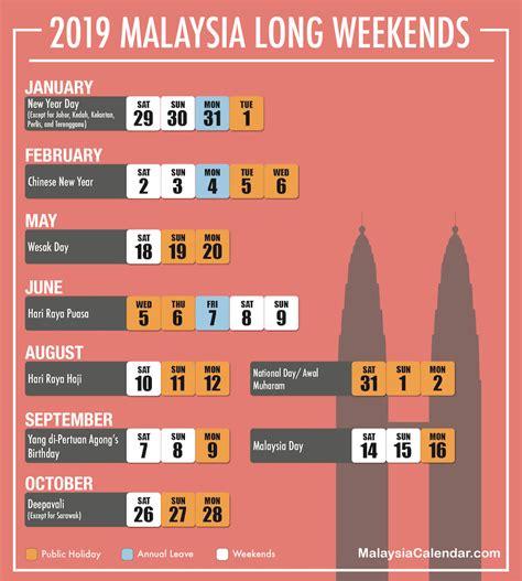 long weekend  malaysia calendar
