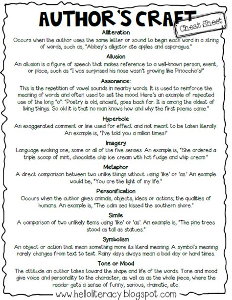 literary themes list for students a quot cheat sheet quot to help students remember basic literary
