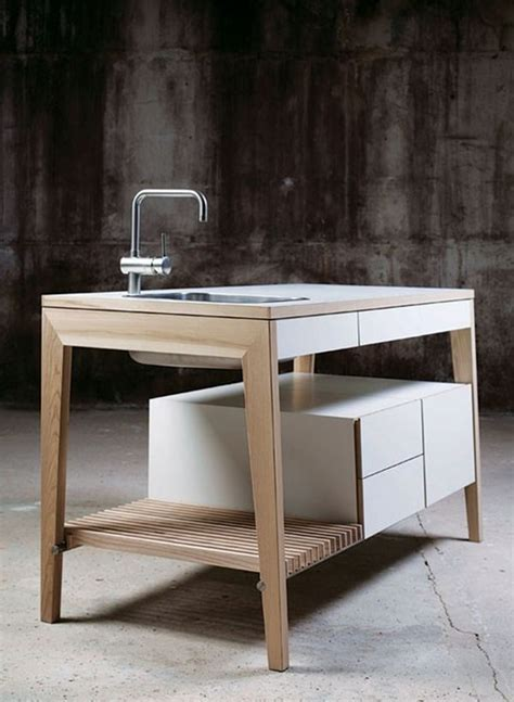 Simple and functional freestanding kitchen table