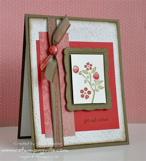 Handmade Get Well Cards - handmade get well greeting card stin up