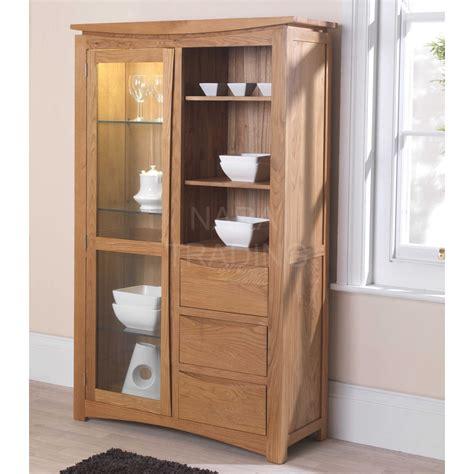 modern oak cabinets crescent solid oak modern furniture glazed display cabinet