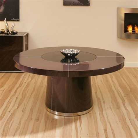 large plum gloss dining table glass lazy susan led