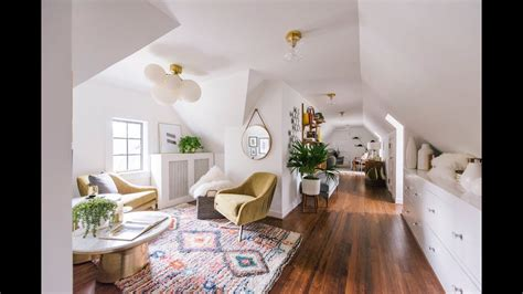 boho minimal scandinavian style  attic apartment