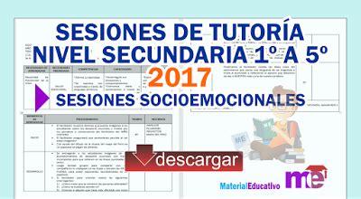documentos de tutoria de secundaria chucaripo colegio sesiones de tutor 237 a nivel secundaria 1 186