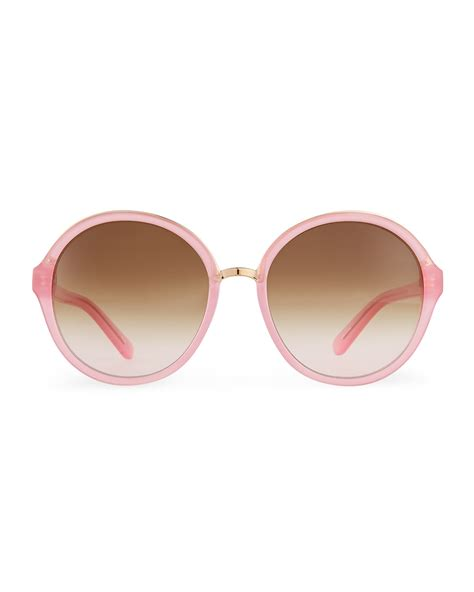 Kate Spade Sunnies 1 lyst kate spade new york bernadette sunglasses in pink