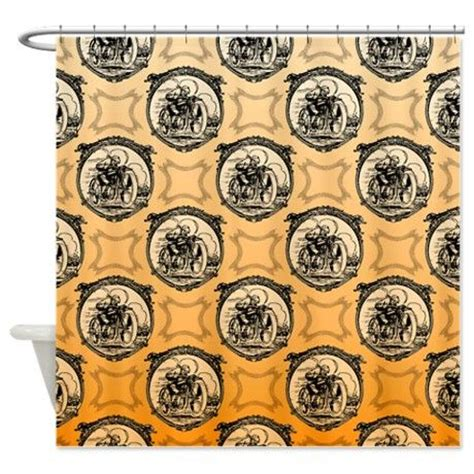 Harley Davidson Curtains And Rugs by Vintage Motorcyclist Shower Curtain Shower Curtains