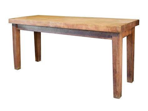 butcher block table butcher block table at 1stdibs