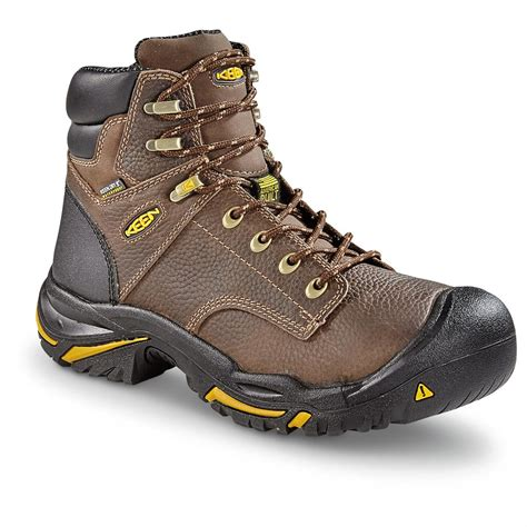 keen mens boots keen utility s mt vernon waterproof 6 quot soft toe boots