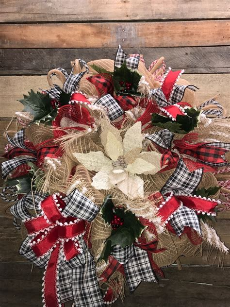christmas wreath holiday wreath rustic holiday wreath