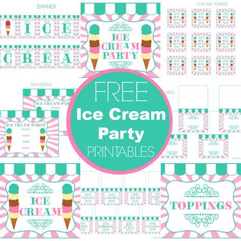 free printable invitations ice cream party free ice cream party printables from printabelle