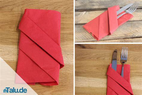servietten tasche falten servietten zu bestecktaschen falten diy serviettentasche